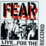 Live...For the Record de Fear - Punk-Rock